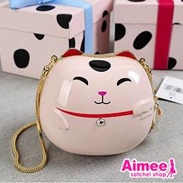 日本可愛招財貓陶瓷包
