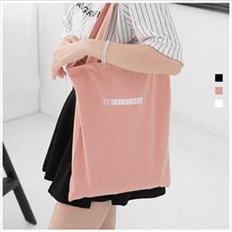 正韓字母購物帆布包-共3色