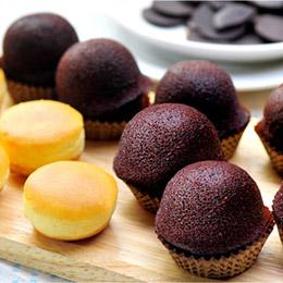 乳酪球+巧克力布朗尼