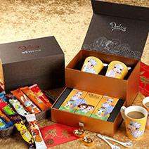 親愛的新春錦盒★對杯+羊年湯匙2支+精美飲品小禮盒3盒