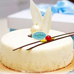 法式甜品白色艾菲爾蛋糕6吋<br>買就送:Line馬卡龍