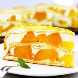 芒果多千層蛋糕8吋★新鮮爆餡