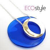 【安珂ECO】金銀雙色設計款中空圓弧項鍊☀ECO安珂☀