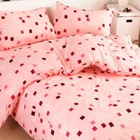 粉色海洋雙人床包組