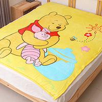 迪士尼正版小熊維尼法蘭絨毯