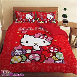 Hello Kitty糖果樂園雙人床包組