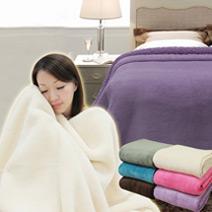 極暖超細纖維羊羔絨毯(單雙人)