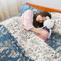 100%聚酯纖維棉 Wonderland 單人床包2件組
