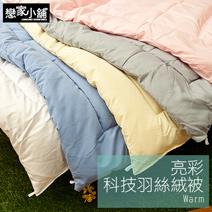 輕薄保暖台灣製亮彩科技羽絲絨被-共五色