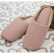 極簡風條紋保暖家居拖鞋兩入組