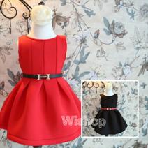 冬季厚款空氣棉+H皮帶 公主裙
