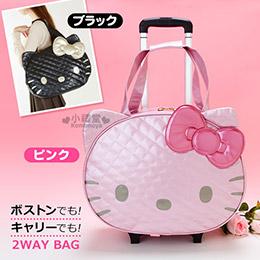 Hello Kitty 2way造型拉桿隨身行李袋