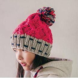 粗毛線編織毛帽