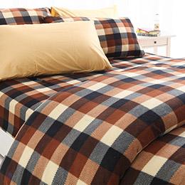 昇溫3°C搖粒絨雙人床包枕套四件組