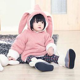 兔子厚鋪毛上衣