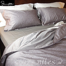 Niles超級皮馬棉400織紗四件式5尺標準雙人床包組