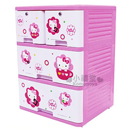 Hello Kitty 三層斗櫃