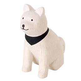 日本T-lab細膩手工木作動物擺飾全系列-秋田犬