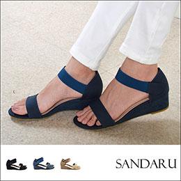 簡約大方↗一版鬆緊船型涼鞋