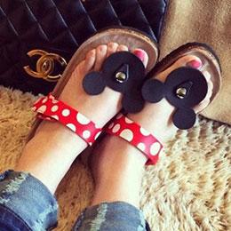 童趣可愛米奇軟木拖鞋