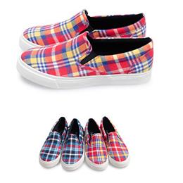 富發牌-U52 亮色格紋懶人鞋,SIZE:23-25號