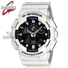 現貨卡西歐CASIO G-SHOCK多層次錶盤 雙顯 白框銀黑