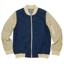 復古經典MA-1拼接圖紋夾克