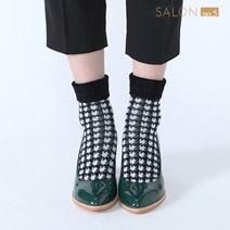 靴下屋Tabio 千鳥格紋折疊短襪