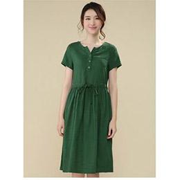 2015新棉麻女裝短袖連衣裙