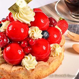 法式極致莓果寶石蛋糕<6吋>