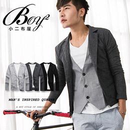 韓式休閒棉質西裝外套
