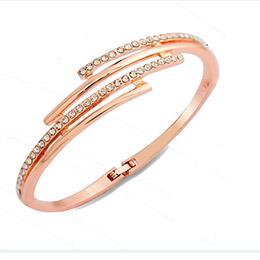 正韓多層次鑲鑽水晶手環