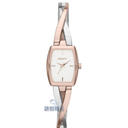DKNY手錶 絕代風華 玫瑰金x銀