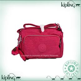 Kipling拉鏈袋小斜背包