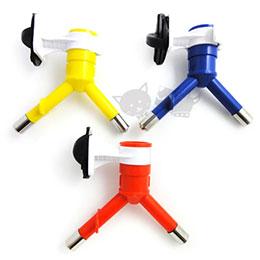 《dogstory》輕鬆舔式飲水器雙頭-3色