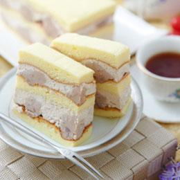 真芋頭蛋糕+阿薩姆布丁蛋糕★送德式布丁塔