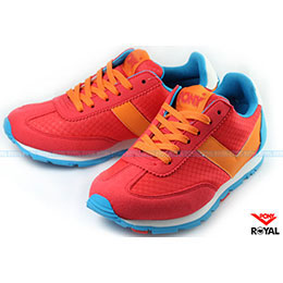 PONY SOHO 紅橘/藍 休閒運動鞋
