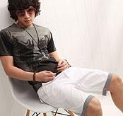B.jack 日系格紋短褲