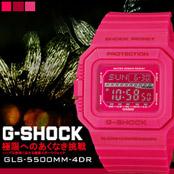 G-SHOCK高彩度亮粉電子錶