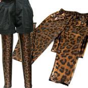金屬風豹紋圖騰內搭褲