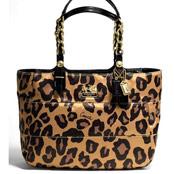 豹紋緞面材質肩揹包