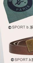 agnès b SPORT.b系列皺折皮帶