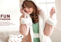 大珍珠立釦毛海針織外套