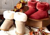 防滑底&防撥水真羊毛雪靴
