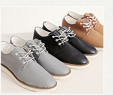 簡約仿牛皮綁帶休閒皮鞋 3色