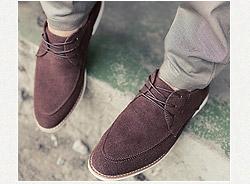 仿麂皮低筒休閒皮鞋