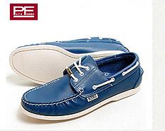小牛皮帆船休閒鞋