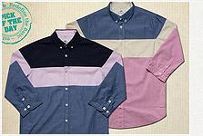 adlib 2012 S/S 三段接色襯衫