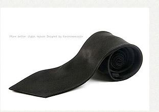 黑色寬版領帶