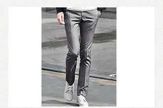 韓版西裝褲-鐵灰色